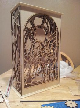 WIP Celestia Themed Clock (Phase 2, case assembly) by weRDunfo