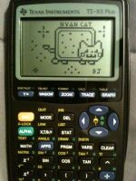 Nyan Cat on calculator by SoulEaterRagnorok
