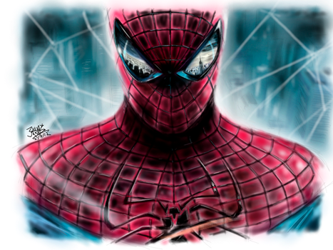 iPad finger painting - Spiderman by chaseroflight