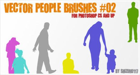 Vector People Brushes 02 by Shizuru117