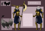 Angel and Silverwing the Griffin by NatureCipher
