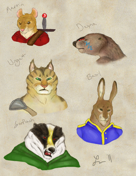 Redwall Portraits - M Warriors by Cheddarness8