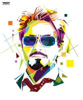 Tony Stark in WPAP by aryakuza