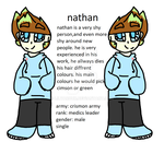 Nathan {new oc!} by lilyarour