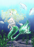 .::Commission::. The Mermaid by Mathelt