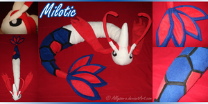 Milotic Plushie by Allyson-x