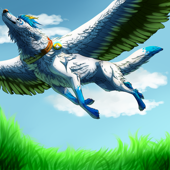 Flying High - Collab by silver-moonwolf