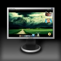 Samsung Monitor .PSD file by Ptichurina