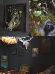 Mossy boar in thrifted frame! by Nymla