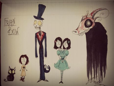 Fran Bow: Burtonized Characters 1 by Loza-LaSphinx