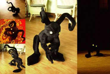 KH: Shadow Heartless Plushie by Risachantag