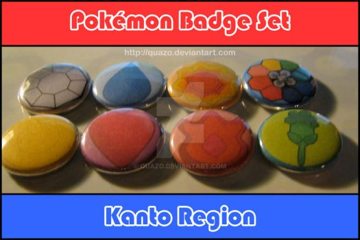 Pokemon Badge Buttons: Kanto by quazo