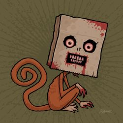 Psycho Sack Monkey by fizzgig