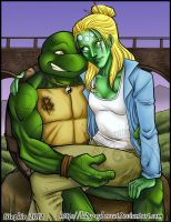 Querl and Raph Colored by lady-cybercat