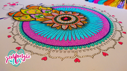 Color Mandala for Lexi by AsterBarnes