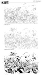 The Battle WIP roughs by Inkthinker