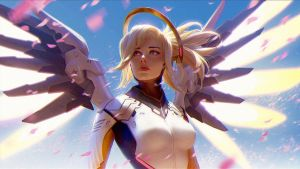 Mercy Overwatch TG caption by kai01604