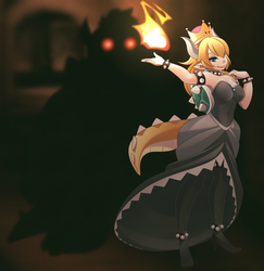 bowsette - Princess Bowser by phation