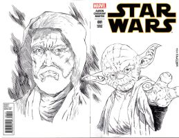 STAR WARS sketch cover by drawhard