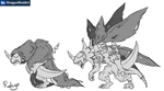 Fake Digimon - NecroGreymon by dragonrod342