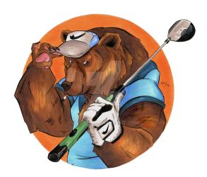 Golf Bear by Hxrxld