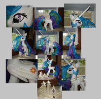 Feathered Princess Celestia Plush with Accessories by The-Crafty-Kaiju
