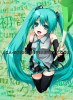 Vocaloid - Hatsune Miku by Aka-Shiro