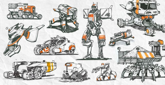 Sketch Collection 01 by IllOO