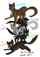 MY FAVE WARRIOR CATS 8D by SketchDumpZim