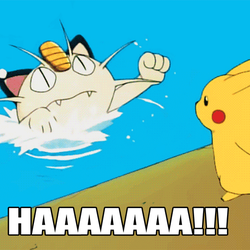 Meowth vs Water-Abridged GIF by zigaudrey
