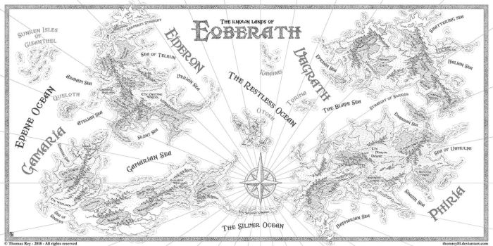 The known lands of Eoberath by Thomas-Rey