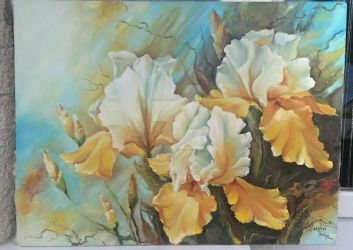 Oil painting - Yellow flowers by ARTurTsanko