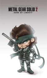 Mini Solid Snake by CamiFortuna