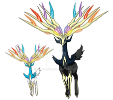 716 - Xerneas (Active Forme) - Art v.3 by Tails19950