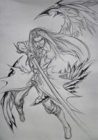 Sephiroth, The One-Winged Angel by d-AspiringAmeture-b
