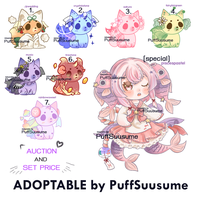 Adoptable by PuffSuusume #10 by Rozbiie