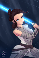 Rey - Star Wars by el-everman