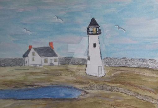 Two Centuries Ago At Clark's Point Lighthouse by handylight