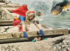 Super Fred Saves Lauren by MLeighS-DigitalArt