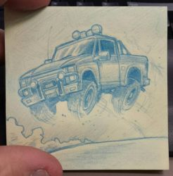 the unknown stunt man-post it by lordsmiley