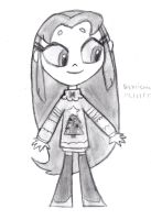 Ugly Christmas Sweater Starfire by DrChrisman