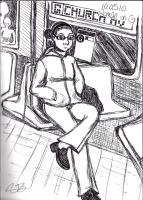 Woman on the G Train by artisticTaurean