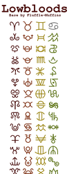 [BASE] Hiveswap/Homestuck Lowblood Symbols by Fluffle-Muffins