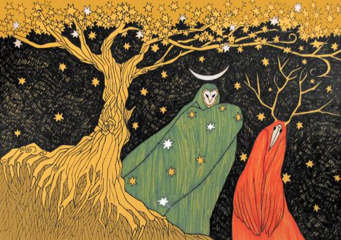 The Starry Tree by yanadhyana