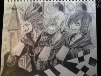 Axel Roxas And Xion KH by 1Finale95