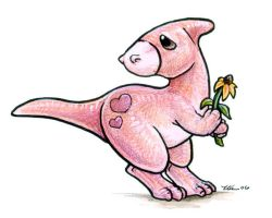My Little Hadrosaur by ursulav