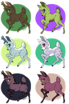 Deer Adoptables 3~6/6 Open~ by Xbox-DS-Gameboy