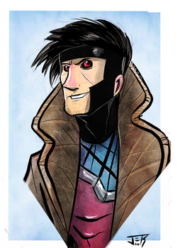 Gambit 90s Bust by Honez