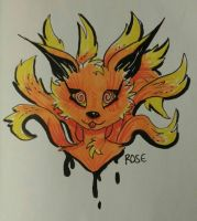 Nine-Tailed Fox by WolfReed301