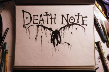 paint-Ryuk and Death Note logo by cypress213